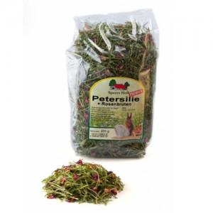 Parsley and Rose Petals